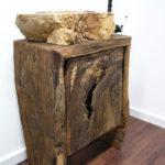 Badezimmer Waschtisch-Unterschrank rustikal aus Altholz