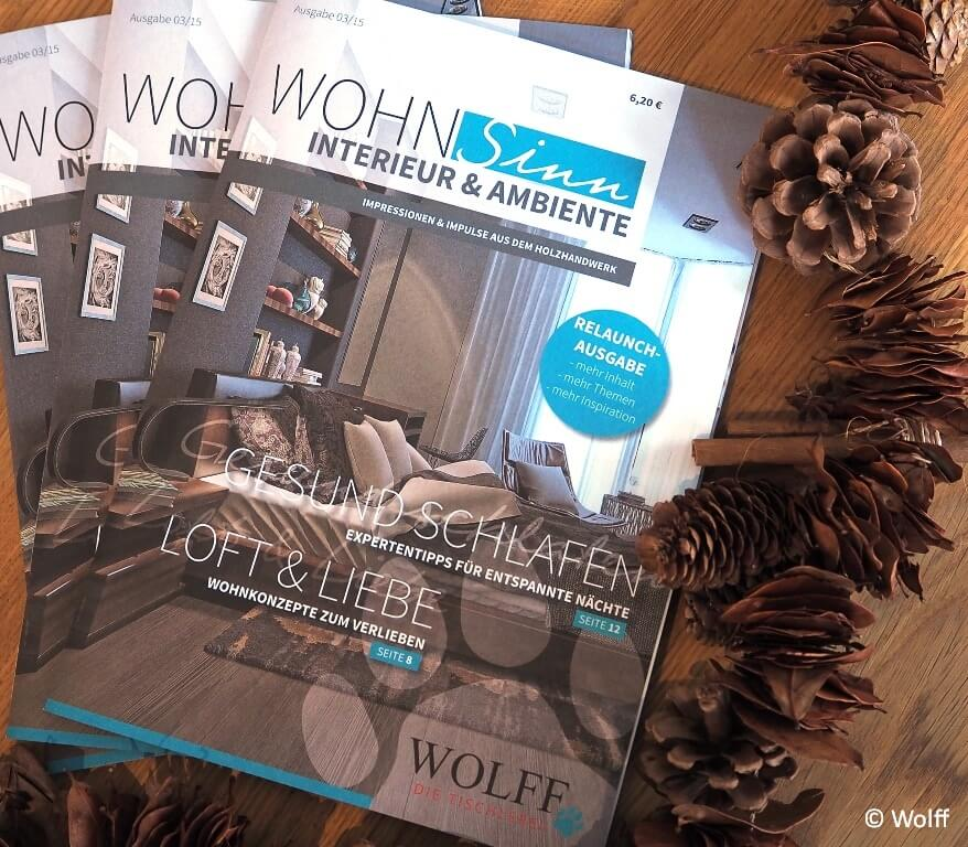 zeitschrift wohnsinn abonnieren tischlerei wolff aus heeslingen. Black Bedroom Furniture Sets. Home Design Ideas