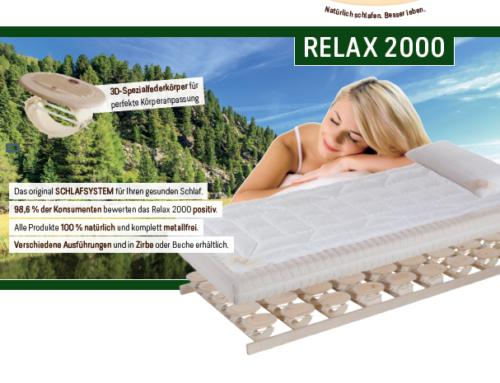 Zirben-Aktionswochen mit Relax 2000
